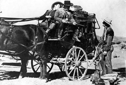 See, that's the stagecoach they keep refering to.