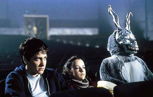 Clearly a tip of the hat to Harvey, a film where the imaginary bunny is ... nice.