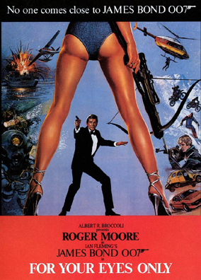 Oh THAT'S the weird bum Bond poster I recall from childhood, oooooh