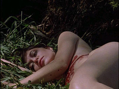 In the special features, you actually the production crew strip and stab woman to death - ah The Method!