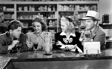 Sweet classic Soda Shop Scene, and you know what the best part is? Fisticuffs in the store!