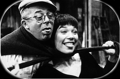Billy Wilder, explaining what 'in her place' means. Shiley MacLaine, showing him back.