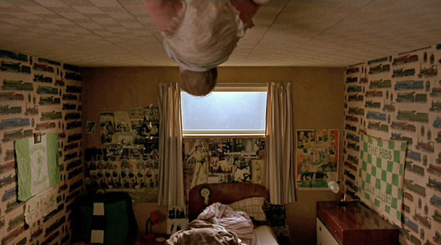 And the classic baby on the ceiling scene.